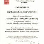 Dyplom Inst.Med. Chin. TCM 2010-2013