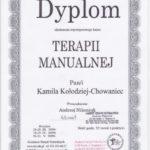 Dyplom Terapie manualne 2009